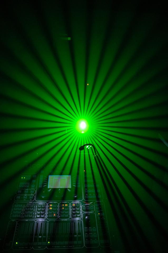 Lichteffekte während der Programmierung für eine Show