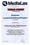 Schulung zum Laserschutzbeauftragter